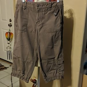 Sigrid Olsen women's 10 brown cargo Capri pants
